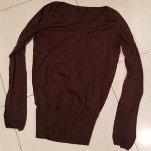 Express Lightweight Sweater Brown Tee